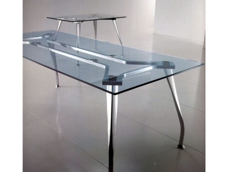 Table de r union verre led mobilier de bureau for Table de bureau en verre