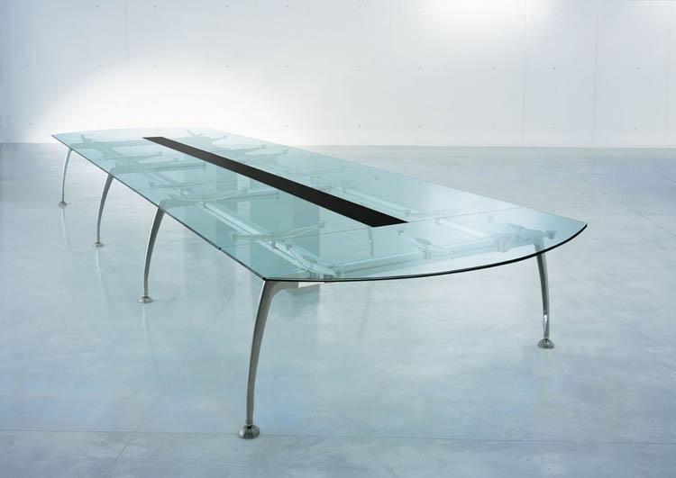 table de r union en verre et m tal rf mobilier de bureau. Black Bedroom Furniture Sets. Home Design Ideas