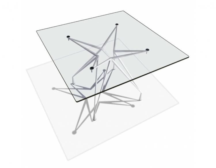 table de r union carr plateau verre ap 3. Black Bedroom Furniture Sets. Home Design Ideas