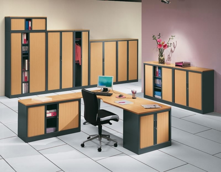 armoire de bureau m tal rideaux tic 2 mobilier de bureau. Black Bedroom Furniture Sets. Home Design Ideas