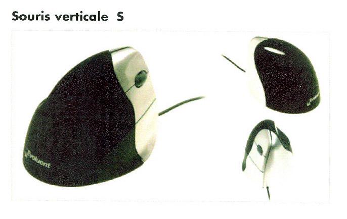 souris verticale pour droitier ou gaucher ergonomique s kab mobilier de bureau. Black Bedroom Furniture Sets. Home Design Ideas