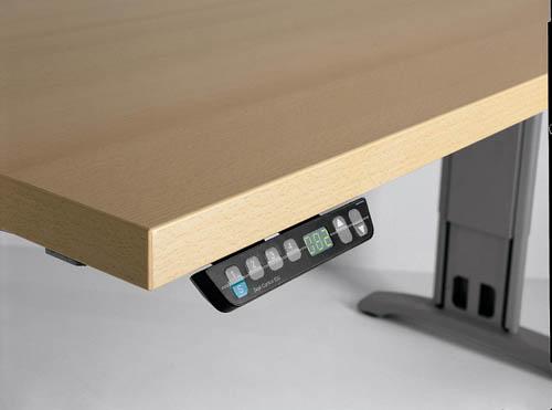 Bureau budget r glable en hauteur uq 1 mobilier de bureau - Bureau reglable en hauteur electrique ...