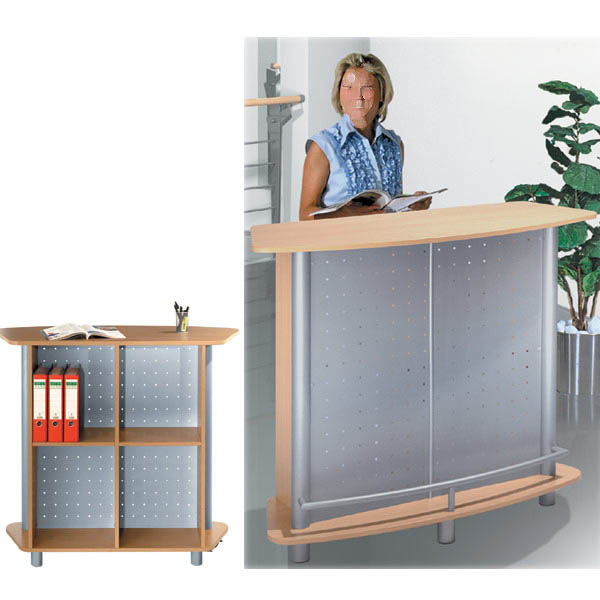 comptoir d 39 accueil debout budget express ot33. Black Bedroom Furniture Sets. Home Design Ideas