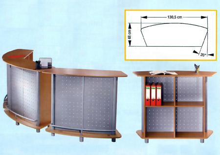 comptoir d 39 accueil debout budget express ot33 mobilier de bureau. Black Bedroom Furniture Sets. Home Design Ideas