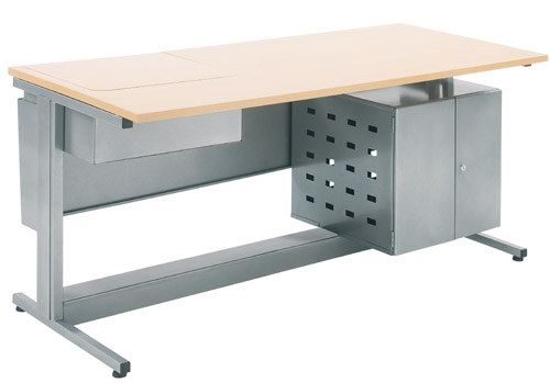 table informatique s curis e cran rabattable abm 25 mobilier de bureau. Black Bedroom Furniture Sets. Home Design Ideas