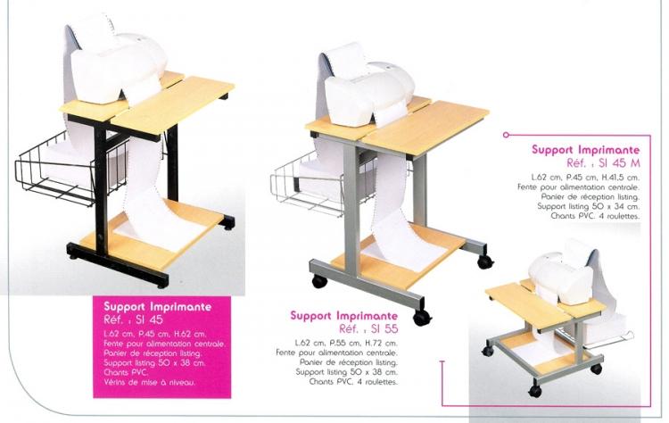 support d 39 imprimante pour listing gm mobilier de bureau. Black Bedroom Furniture Sets. Home Design Ideas