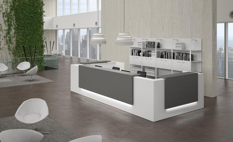 Banque accueil design uq z 222 mobilier de bureau for Mueble recepcion ikea