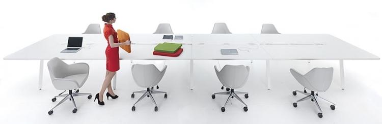 table de r union modulaire lectrifiable dm 2. Black Bedroom Furniture Sets. Home Design Ideas