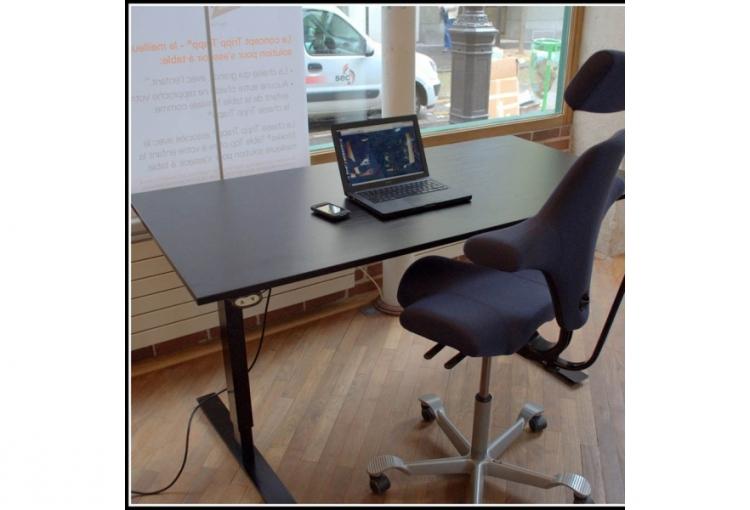 Structure pour bureau r glable lectrique noc 2 mobilier for Mobilier de bureau pour etudiant