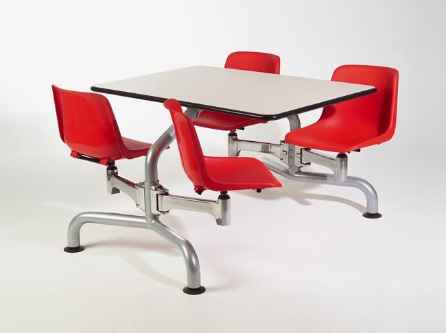 table avec chaises attenantes cafeteria r fectoire eb 22 mobilier de bureau. Black Bedroom Furniture Sets. Home Design Ideas