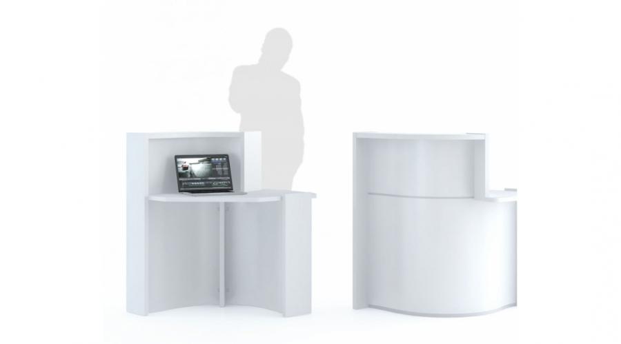 borne d 39 accueil vague pour une personne dm mobilier de bureau. Black Bedroom Furniture Sets. Home Design Ideas