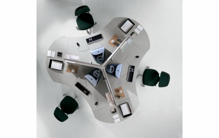 poste de travail en toile uq 125 mobilier de bureau. Black Bedroom Furniture Sets. Home Design Ideas