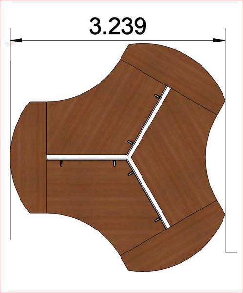 bureau poste de travail en toile uq 125. Black Bedroom Furniture Sets. Home Design Ideas