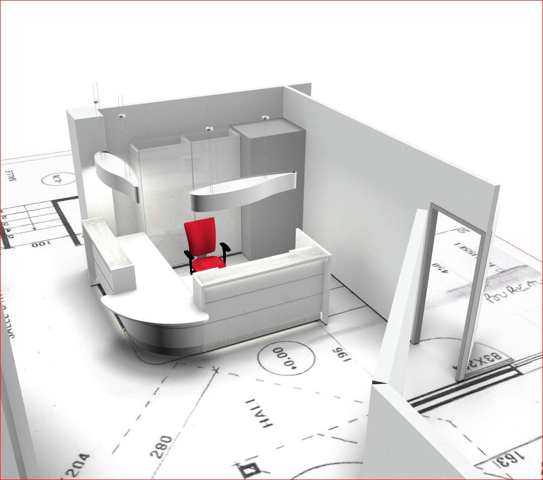 luminaire pour banque d 39 accueil dm. Black Bedroom Furniture Sets. Home Design Ideas