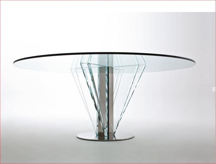 table de r union ronde plateau verre prestige lag 5 mobilier de bureau. Black Bedroom Furniture Sets. Home Design Ideas