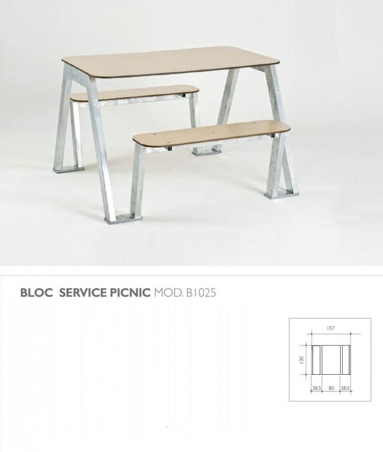 bloc banc et table exterieur pic nic leb. Black Bedroom Furniture Sets. Home Design Ideas