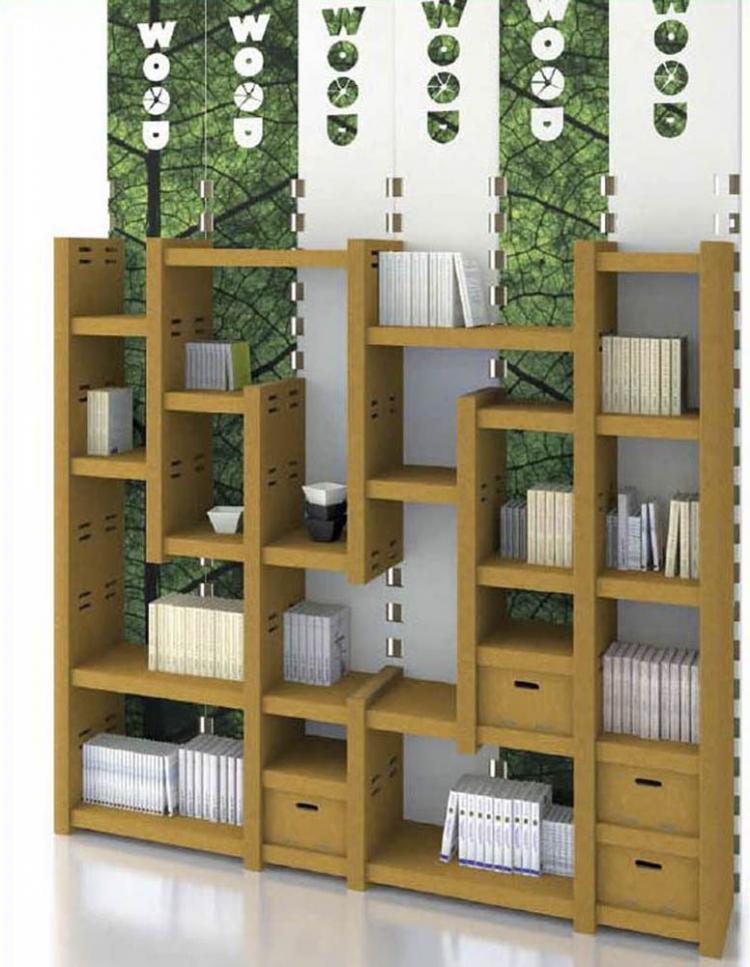 Bureau et meubles cologiques en carton ran mobilier de for Meuble bureau ecologique