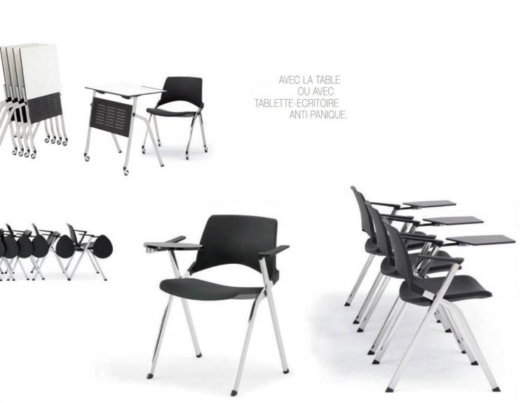Table et chaises pliantes pour salle polyvalente de formation ebi - Table et chaises pliantes ...