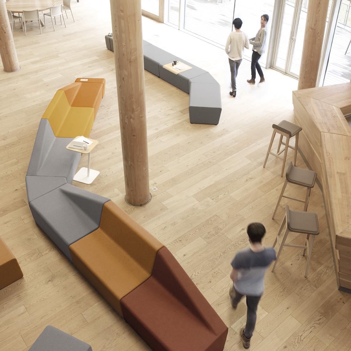 banquettes et canap pour mus e et salle d 39 attente os meen mobilier de bureau. Black Bedroom Furniture Sets. Home Design Ideas