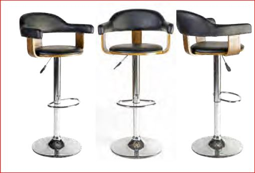 tabouret haut hauteur r glable vintage clyde ffo mobilier de bureau. Black Bedroom Furniture Sets. Home Design Ideas