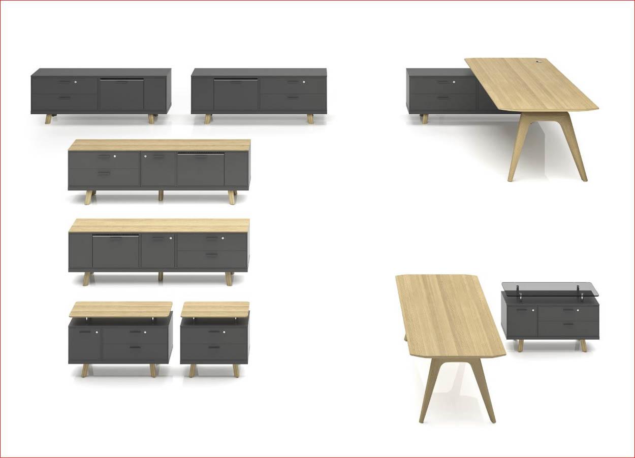 bureau de direction verre et bois arb 1. Black Bedroom Furniture Sets. Home Design Ideas