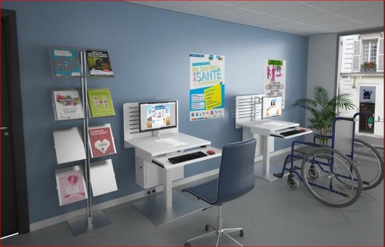Bornes libre service informatique ige mobilier de bureau for Mobilier bureau informatique