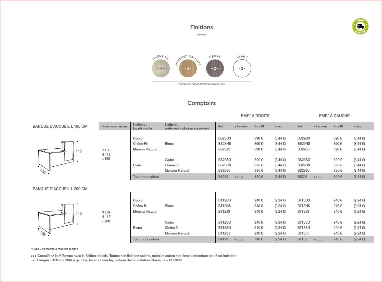 petite banque comptoir d 39 accueil pas cher rapide ub 1. Black Bedroom Furniture Sets. Home Design Ideas