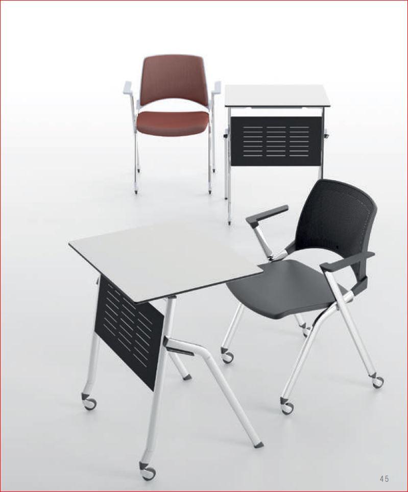 Chaise pliable emboitable empilable pour salle de formation et salle polyvalente ebi - Chaise de bureau pliable ...