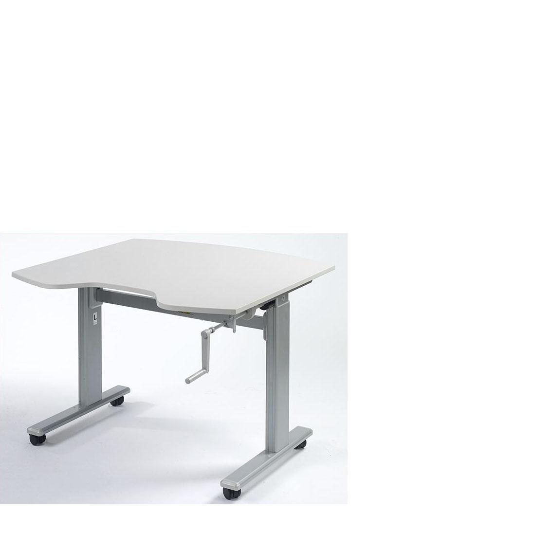 structure pour travail assis debout manivelle enlevable tca 110. Black Bedroom Furniture Sets. Home Design Ideas