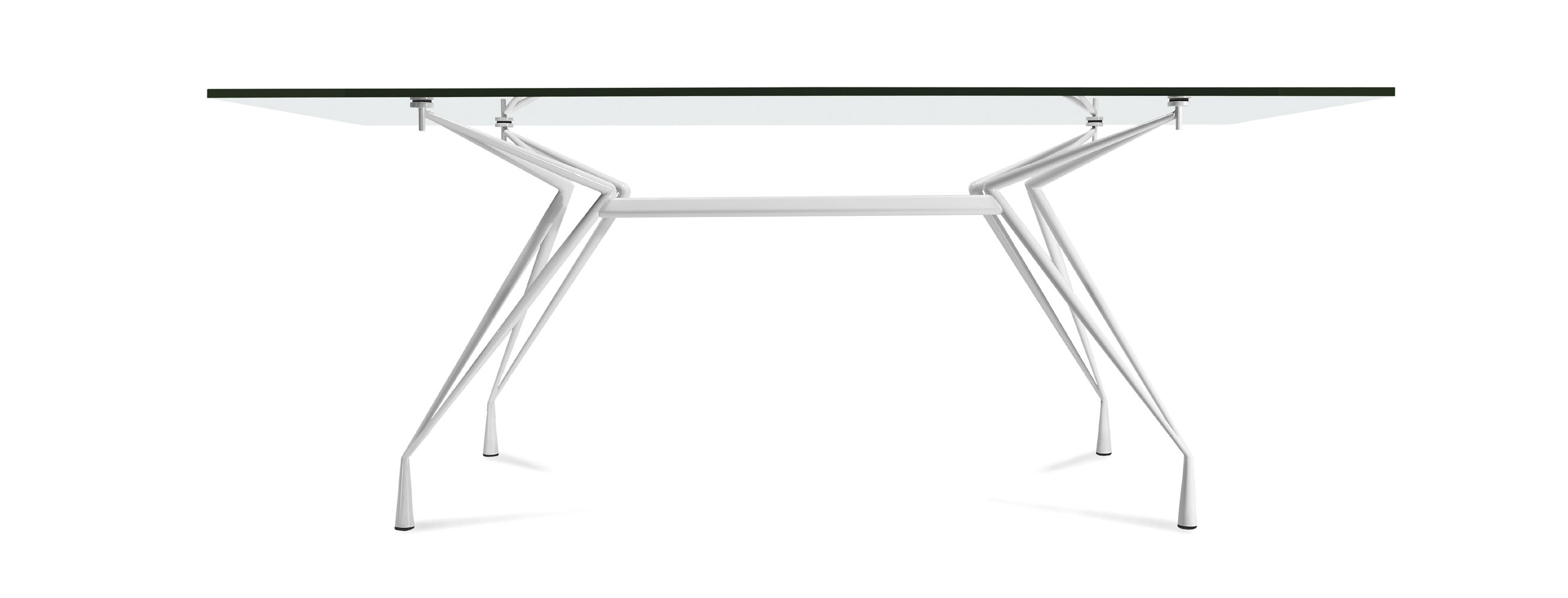 table de r union ovale plateau verre ap 1. Black Bedroom Furniture Sets. Home Design Ideas
