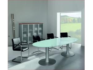 table de r union plateau en verre mobilier de bureau. Black Bedroom Furniture Sets. Home Design Ideas