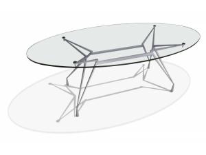 table de r union plateau en verre. Black Bedroom Furniture Sets. Home Design Ideas