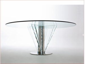 table de runion plateau en verre - Table Plateau En Verre
